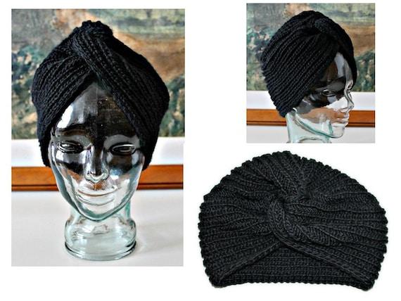 b906242b8 Wool hat Knit wool hat Winter hat Wool turban Bohemian headband Gypsy  headband Head wrap Wool earwarmer Grunge Steampunk Hippie Preppy Goth