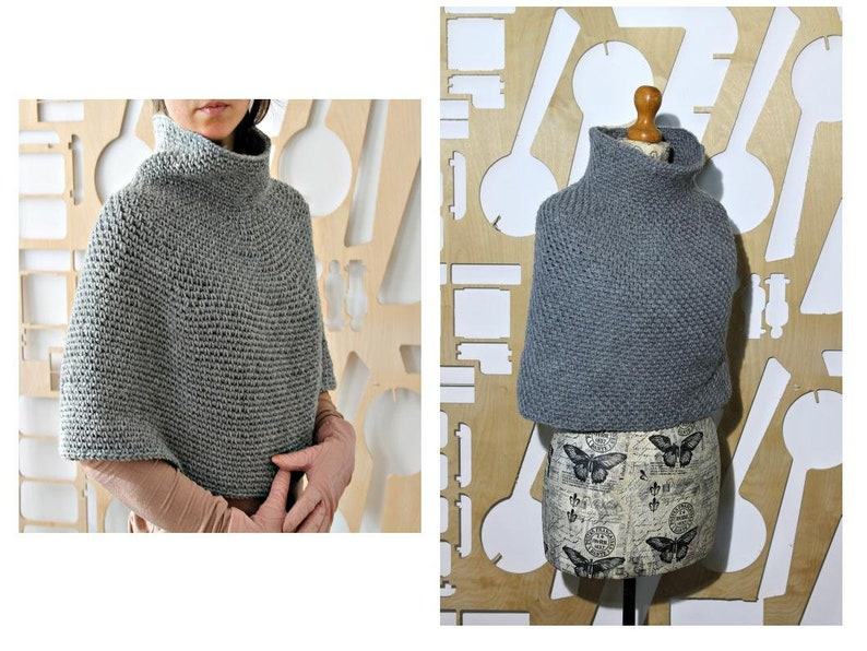 Handmade Croshet Capelet Cape Irish Organic Wool Traditional image 0