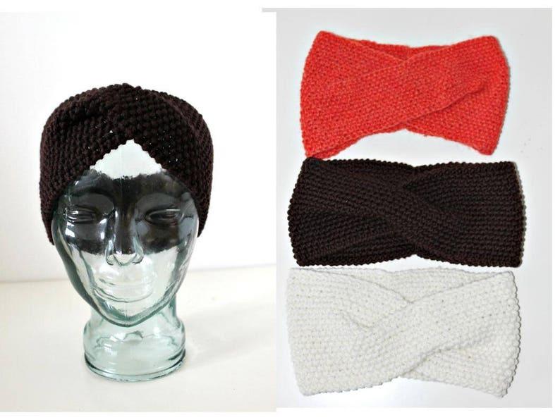 424232194 Knit Headband Turban Gypsy Head Wrap Yoga Earmuffs Ear Warmers Winter  Headgear Hairband Hipster Grunge Steampunk Boho Hippie Preppy
