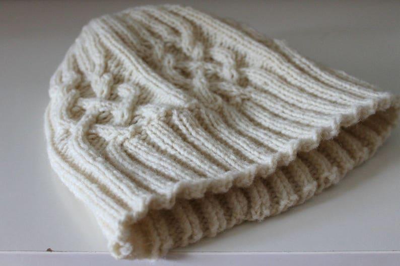 Wool hat Organic wool Fisherman hat Winter knit hat Ski hat  584c3fc0ecdc