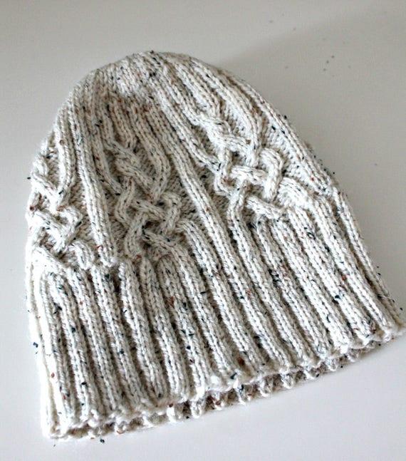419a96391 Aran Unisex Hat Celtic Wool Beanie Head wear Knitted Hats Ski hat Slouchy  Hipster Grunge Steampunk Boho Hippie Preppy