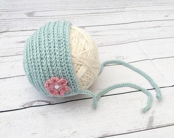 crochet baby bonnet | newborn bonnet | baby girl bonnet | crochet bonnet | baby shower gift