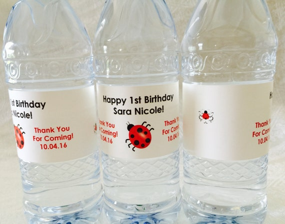 20 PERSONALIZED RUSTIC THEMED WEDDING WATER BOTTLE LABELS Favors distressed edge