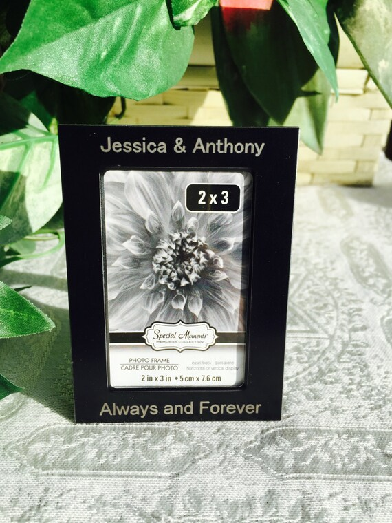 1 Personalized Etched 2x3 Picturephoto Frame For Etsy