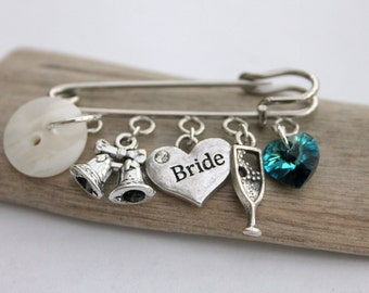Something Old Something New Something Borrowed Something Blue Pin Brooch Gift Idea Wedding Gift Bridal Gift