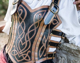 Celtic Knot-Work Buckle Corset