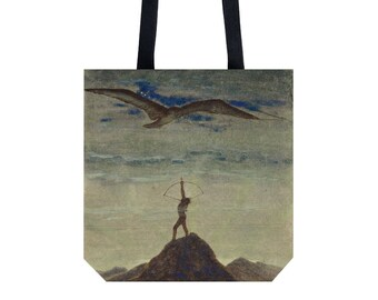Tote bag Shopping bag Shopping tote Martket bag Handbag Shoulder bag Sagittarius present Ciurlionis art