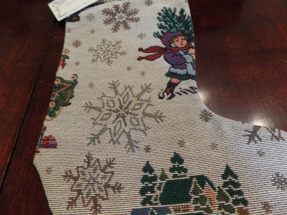 Fabulous Vintage Victorian Inspired Christmas Stocking-New Old Stock