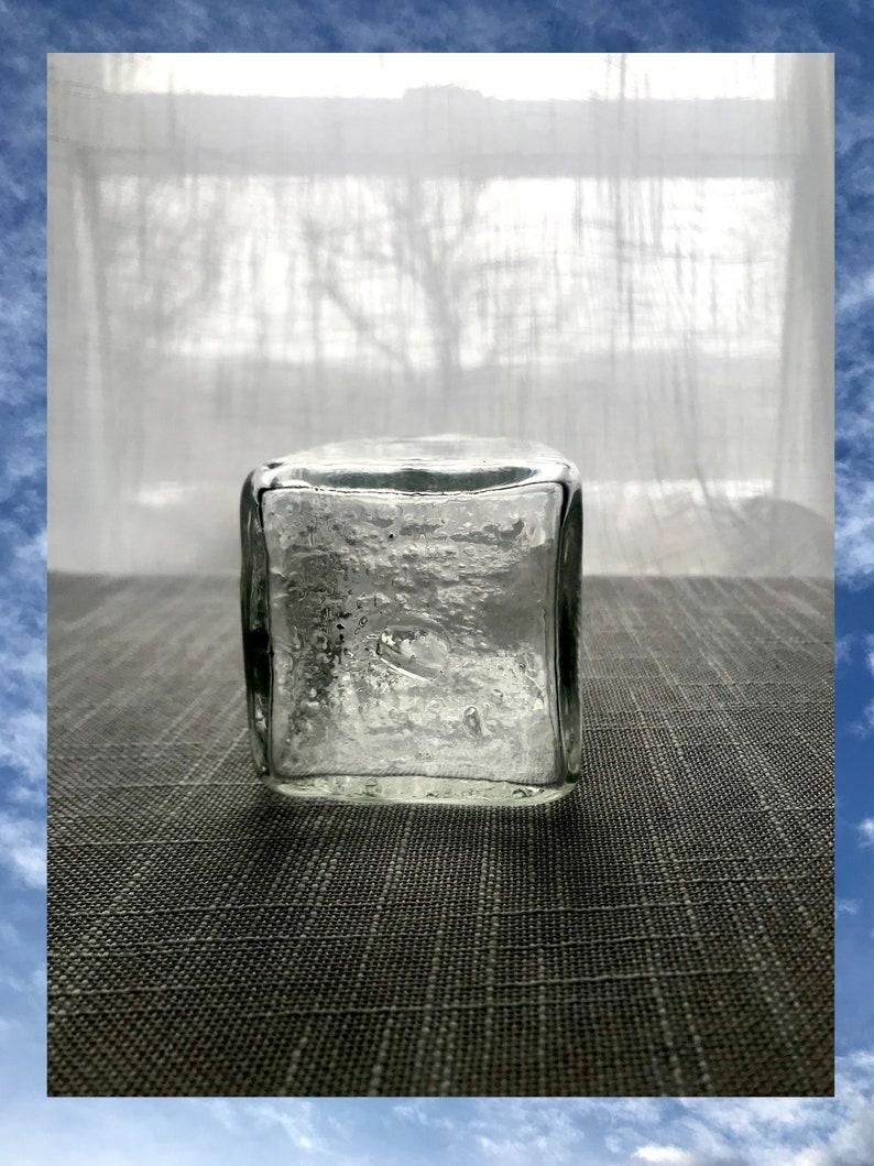 Handmade Mini Mouth Glass Square Vase