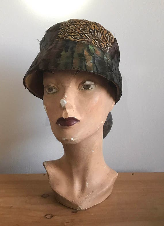 Late 1920s / Early 1930s Pheasant Feather Cloche,