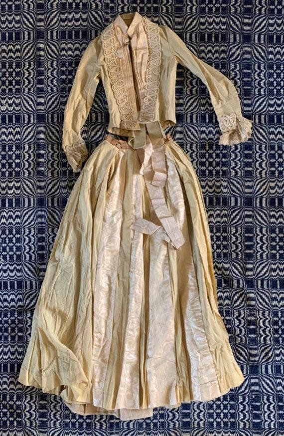1887 Victorian Wedding Dress/ Suit. Skirt, Jacket