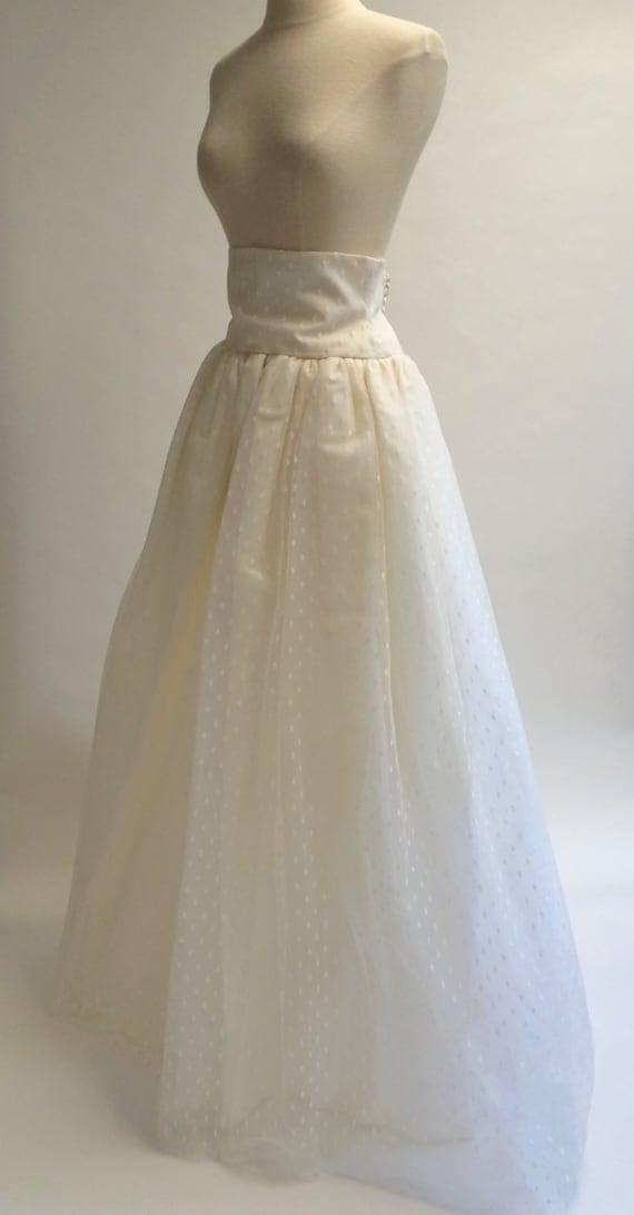 Ivory Tulle Skirt, Layered Wedding Skirt, 90s Wedd