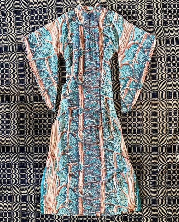 1940s Pake Muu Dress, Polynesian Dress, Hawaiian D
