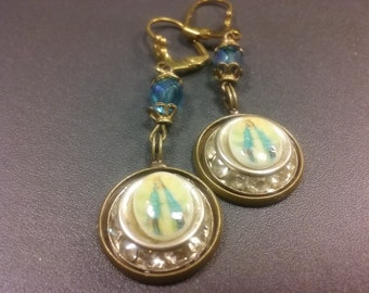 Our Lady of Lourdes Earrings
