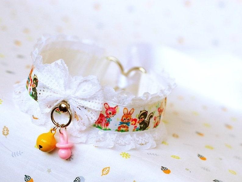 abdl babygirl lolita Vintage Pet ddlg collar for pet play age play bdsm