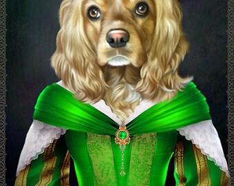 Custom Pet Portrait - 1 Pet- Your pet into a character portrait, pet art portrait, pet gift, pet lover gift,