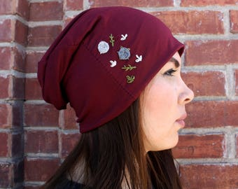 Beanie with Handmade Embroidery <3
