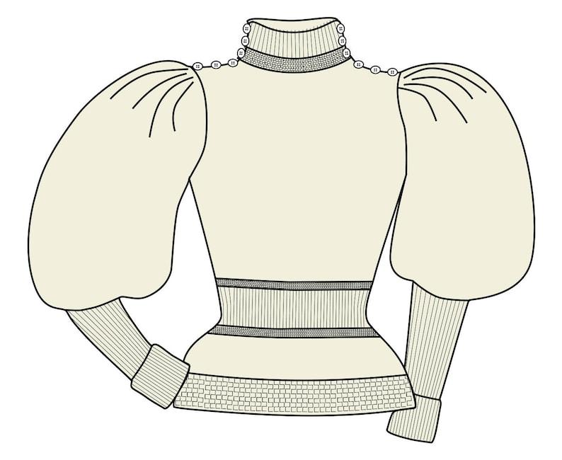 1895-97 Ladies Leg-of-Mutton Sweater  RR120 image 0