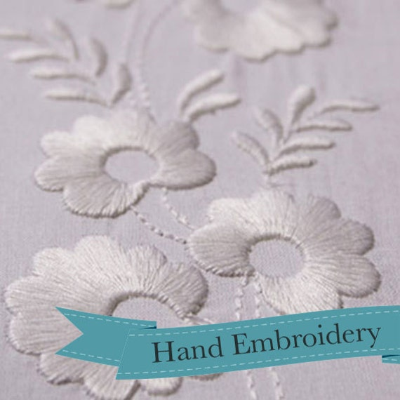 Historical Hand Embroidery Design 1812 Trio Of Borders Etsy