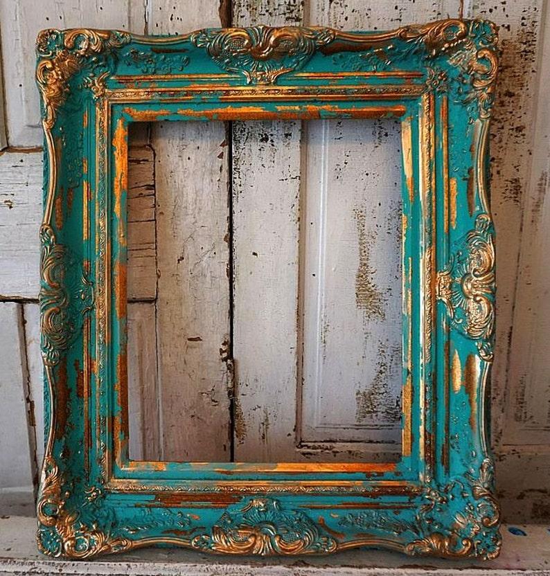 Generous Bonito Antiguo Marco De Fotos Marcos Con Imagen Pintura Dibujo Espejos Arte Y Antigüedades