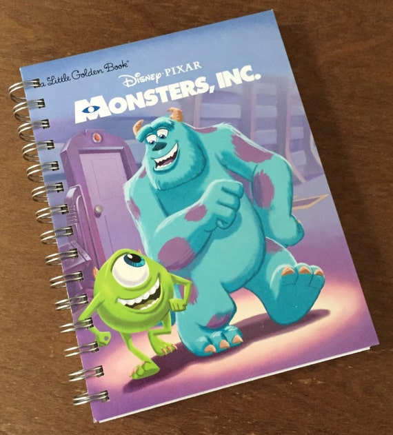 Monsters Inc Little Golden Book Recycled Journal Notebook Etsy