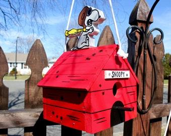 Snoopy Flying Ace birdhouse.