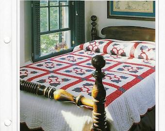 Lancaster Rose Quilt Pattern Vintage Quilt Block Sewing Pattern Bedspread Bedding Home Decor Best Loved Quilts