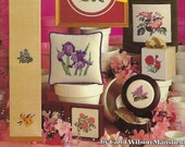 State Flowers Cross Stitch Needlepoint Pattern Book, Leisure Arts 178