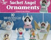 Sachet Angel Ornaments Plastic Canvas Pattern Book, Annie 39 s 872233