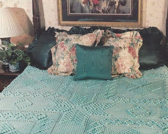 Antique Popcorn - Annie's Crochet Quilt & Afghan - Pattern Crochet Quilt Blanket Afghan, Bedspread, Home Decor, Bedding, Throw