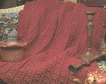 Knitting In The City Vk : Knitted bedspread and cushion pdf knitting pattern stunning