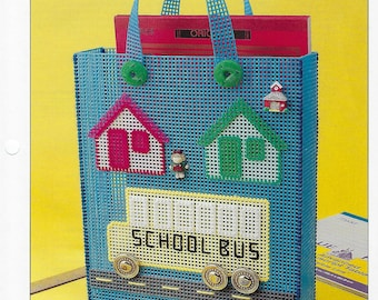 lunch box signs and driver includes children School Bus Plastic Canvas Pattern