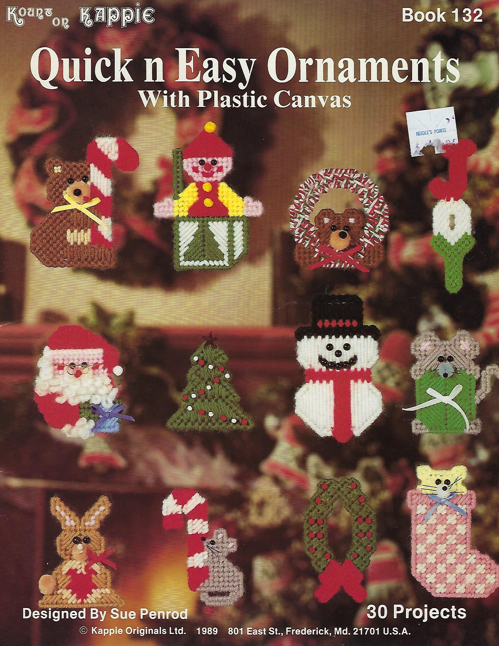 Quick n Easy Ornaments Plastic Canvas Pattern Book Christmas