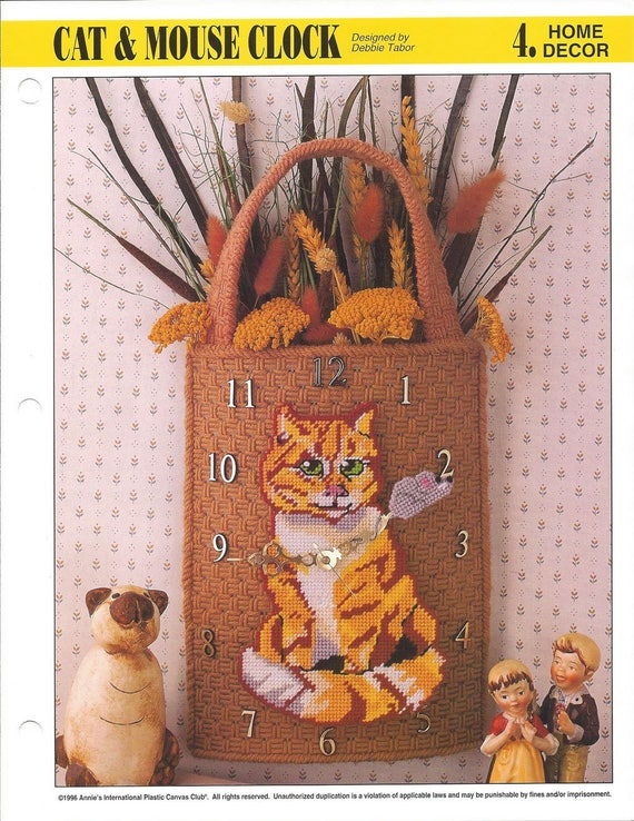 Cat Towel Holder Annie/'s NEW Plastic Canvas PATTERN//INSTRUCTIONS//NEW