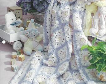 Crochet Baby Pattern Granny Square Blanket Afghan Treasured Toddler Blocks - The Needlecraft Shop - Toddler Blanket, Nursery, Crib Bedding