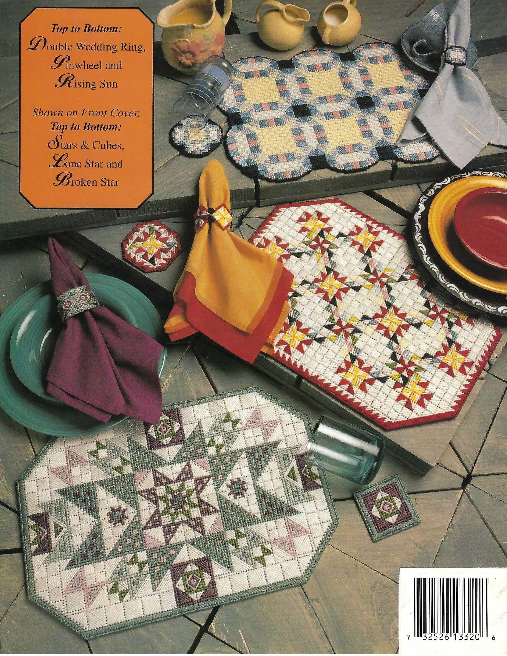 Plastic Canvas Pattern Quilt Place Mat Sets Annie S Etsy