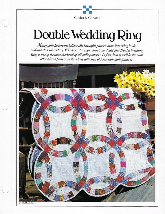 Double Wedding Ring Quilt Pattern Best Loved Quilts Baby Etsy