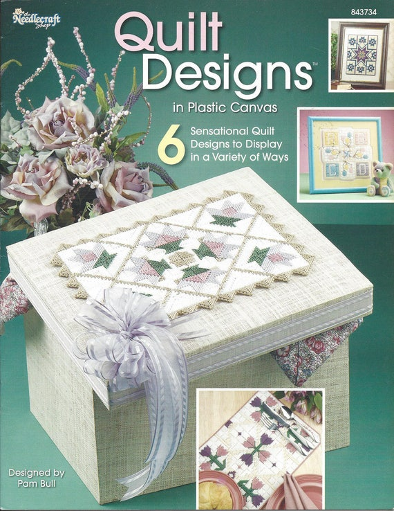Quilt Designs Plastic Canvas Pattern Book Home Decor Baby Etsy Custom Plastic Canvas Pattern Books