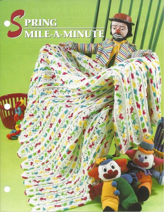 Spring Mile A Minute Crochet Afghan Blanket Pattern Home Etsy