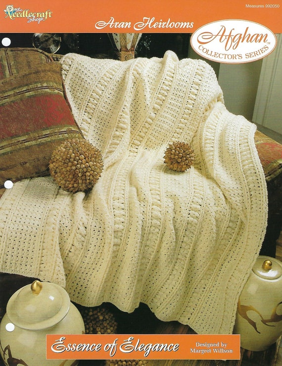 Crossed Cables Afghan Aran Heirlooms Crochet PATTERN//INSTRUCTIONS NEW
