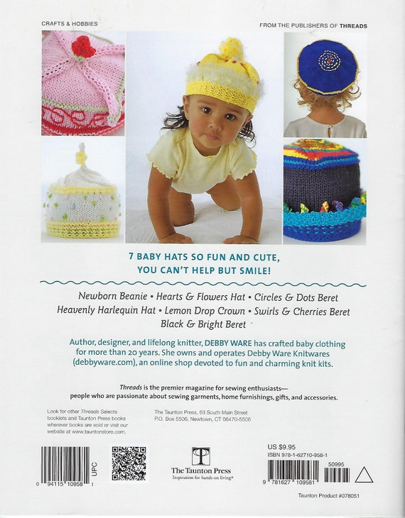 Caps Hats For Babies Knitting Pattern Book Newborn Beanie Etsy