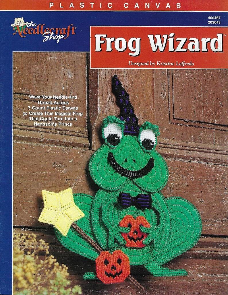 Wall Hanging Door Hanger The Needlecraft Shop Frog Wizard Plastic Canvas Pattern Halloween Decor