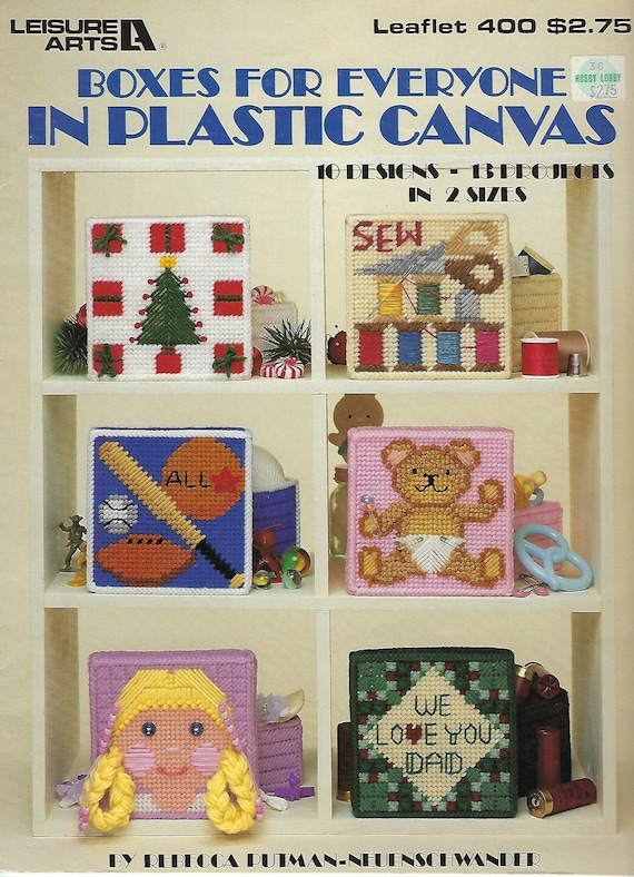 Boxes For Everyone Plastic Canvas Pattern Book Leisure Arts Etsy Simple Plastic Canvas Pattern Books