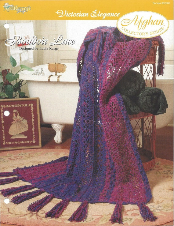 Boudoir Lace Afghan Collectors Series The Needlecraft Etsy