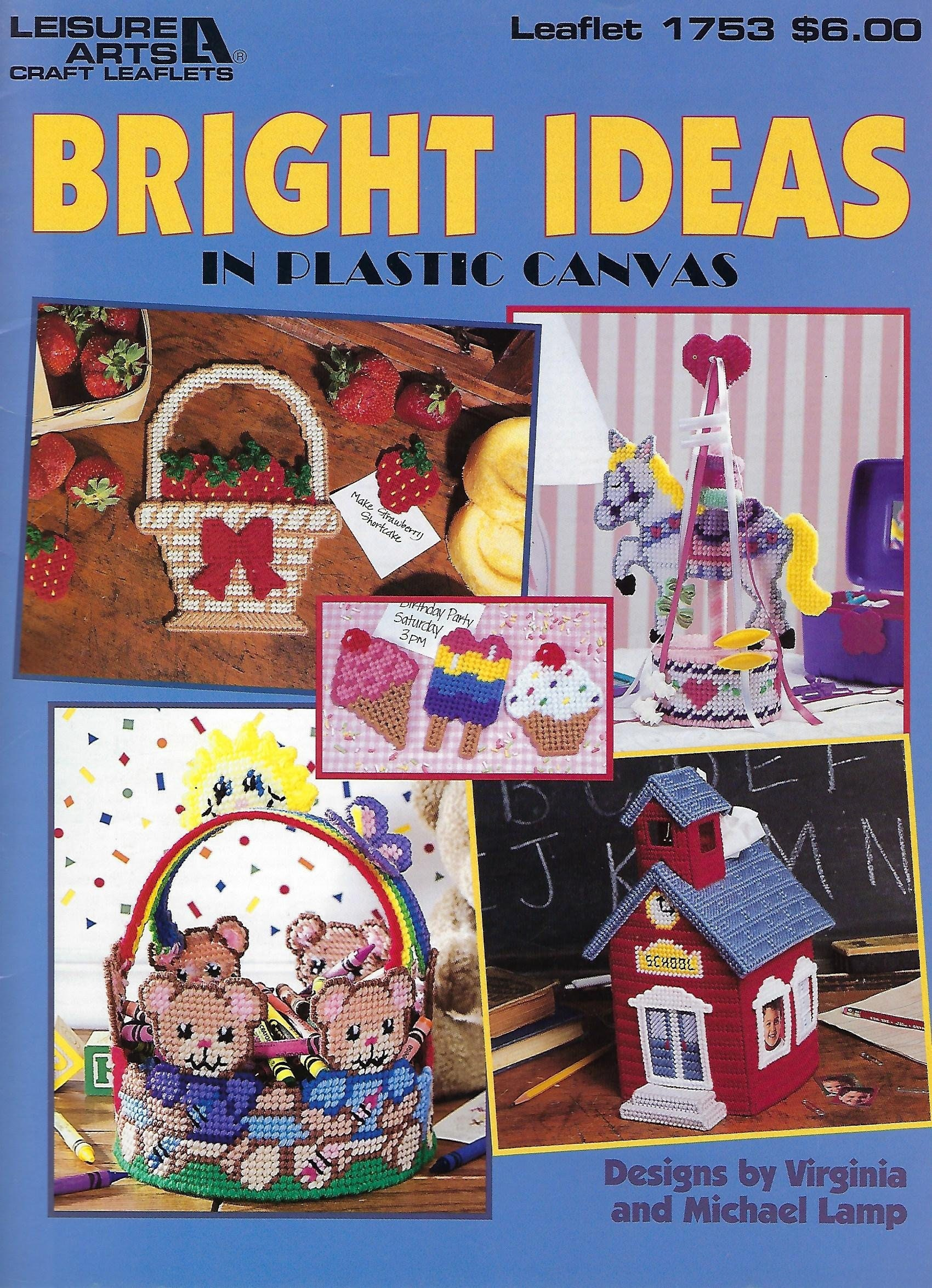 Bright Ideas Plastic Canvas Pattern Book Leisure Arts 1753 Etsy