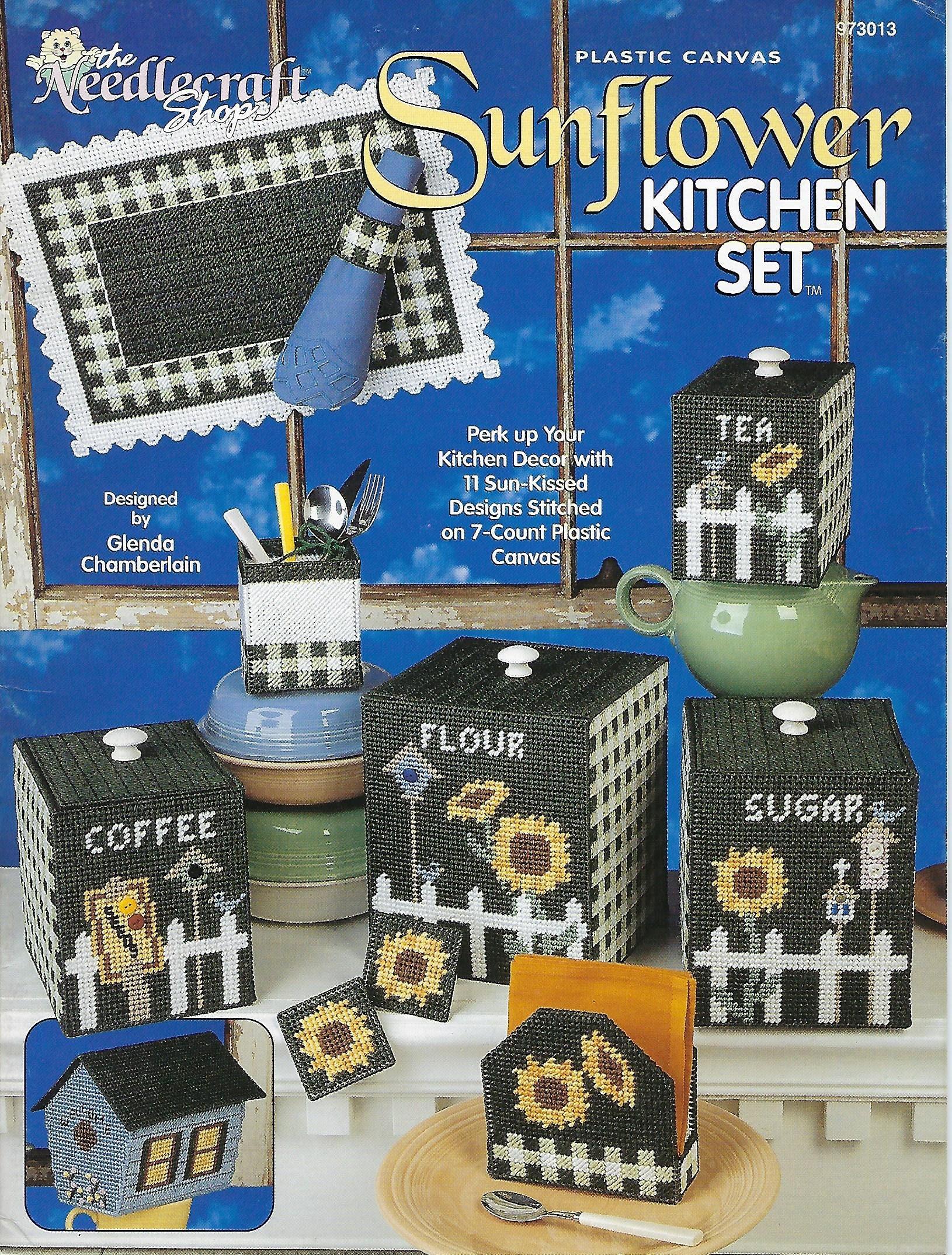Plastic Canvas Pattern Sunflower Kitchen Set The Needlecraft