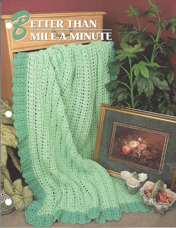 Pattern Afghan Blanket Crochet Better Than Mile A Minute Etsy