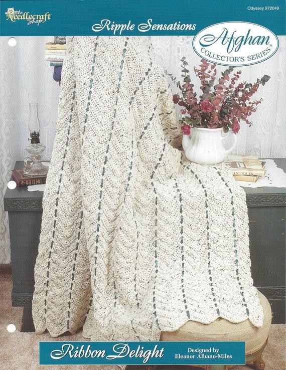 Crochet Chevron Ripple Afghan Pattern Home Decor Heirloom Etsy