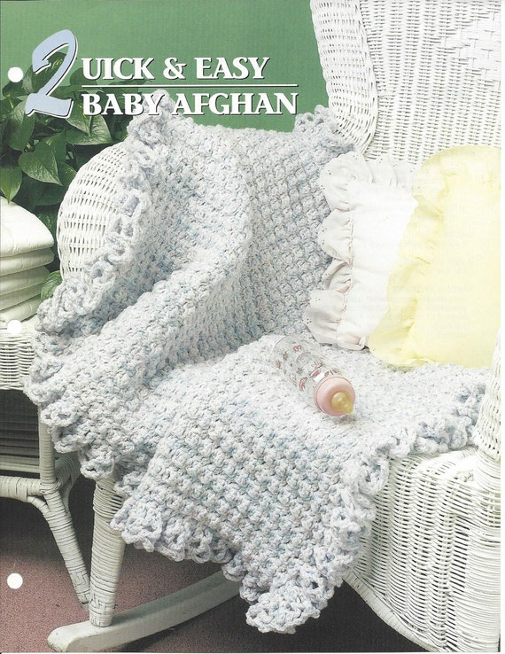 Quick Easy Baby Afghan Pattern Annies Crochet Quilt Etsy