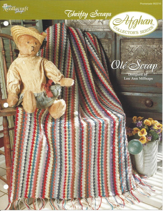 Ole Scrap Afghan Collectors Series The Needlecraft Etsy